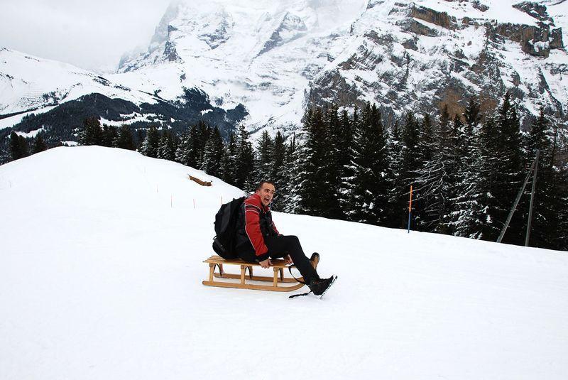 Санная трасса в Швейцарии