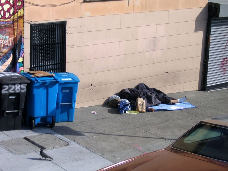 San Francisco Homeless prefer white socks
